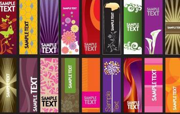 30 vector vertical banner templates - vector gratuit #168969