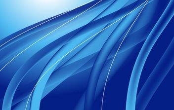 Abstract Blue Waves Vector Illustration - vector gratuit #169059