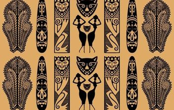 Traditional African Pattern - vector gratuit #169129