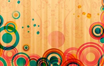 Abstract Colorful Card - Free vector #169159
