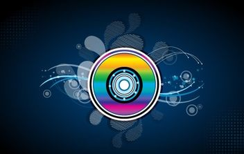 Colorful Compact Disc - vector gratuit #169179