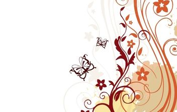 Floral vector background - vector #169269 gratis