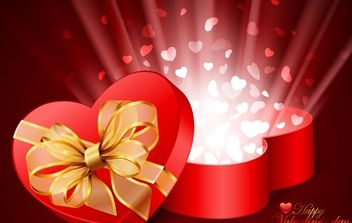 Valentines Day Card Vector Illustration - Free vector #169319