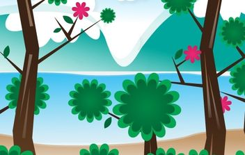 Simple Vector Landscape - vector gratuit #169349