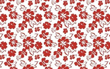 Seamless Flower Pattern-5 - vector gratuit #169359