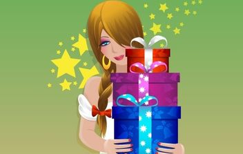 GIFT VECTOR MATERIAL - Free vector #169459