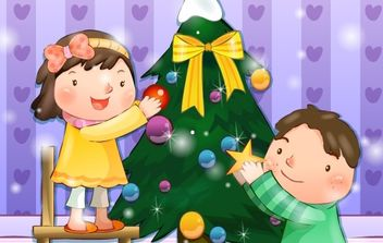 Xmas Child - vector #169469 gratis