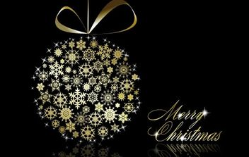Gold Christmas vector elements 24 - Free vector #169529