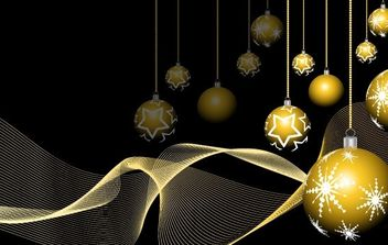 NEW YEAR VECTOR GOLDEN BALL BACKGROUND DESIGN EPS ILLUSTRATOR - vector #169549 gratis