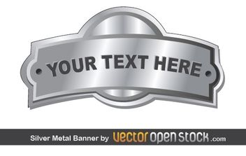 Silver Metal Banner - Free vector #169609