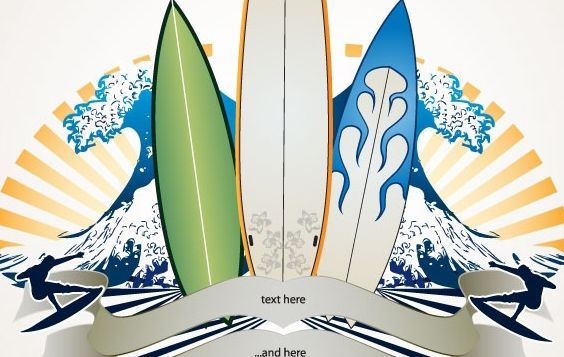 Surf Banner - Free vector #169619