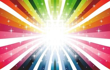 Colorful Rays Vector - vector #169629 gratis