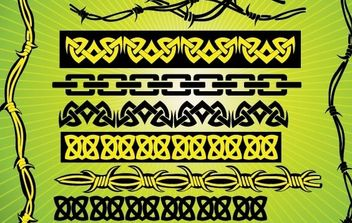 Barbed Wire Tribal Vectors - Free vector #169739