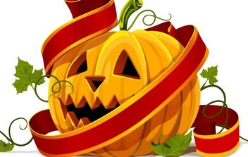 Halloween pumpkin - Free vector #169769