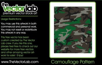 Camouflage Pattern - Kostenloses vector #170059
