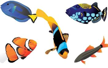 Free vector fishes - Free vector #170119