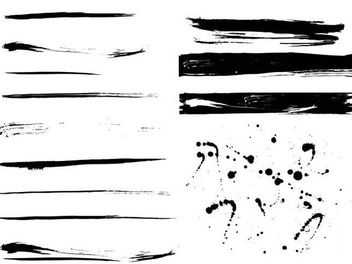 Grungy Dividers Footers Abstract Splashes - Free vector #170249