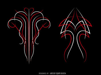 Pinstripe Tattoo - бесплатный vector #170289