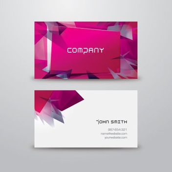 Modern Creative Pink Business Card - vector gratuit #170339