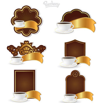 Coffee Label & Tag Set - vector gratuit #170369