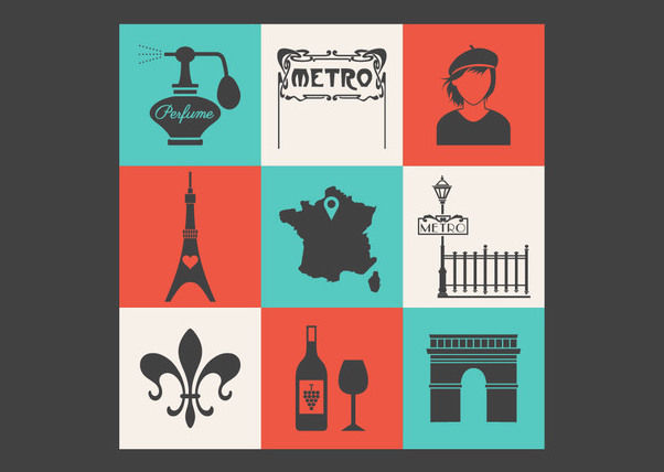Conceptual Vintage Paris Icon Pack - Free vector #170379