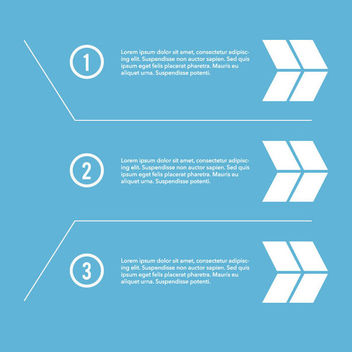 Numbering Paragraph Infographic with Arrows - Free vector #170389