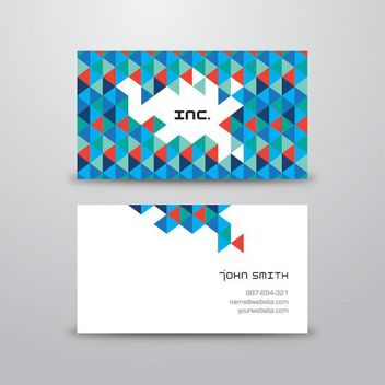 Triangles Polygonal Textured Business Card - vector gratuit #170399