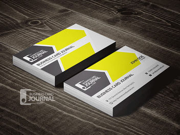 Simple Corporate Business Card - vector gratuit #170459