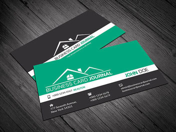 Creative Real Estate Business Card - бесплатный vector #170479