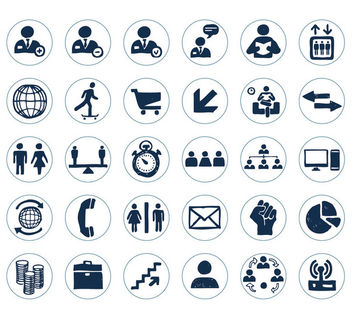 Hand Drawn Business Icon Pack - vector gratuit #170589