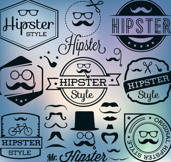 Hipster Vintage Label Pack - vector #170619 gratis