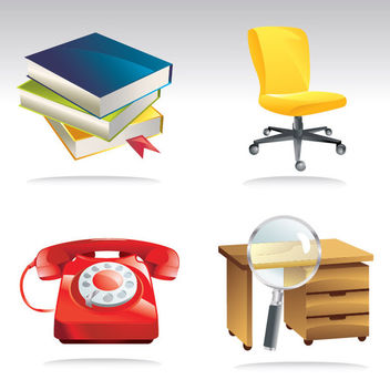 Abstract Office Equipment Pack - vector gratuit #170639