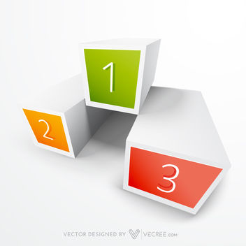 3D Boxes Infographic in Championship Stage Layout - Kostenloses vector #170679