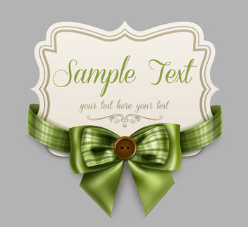 Decorative Floral Ribbon Card Template - Free vector #170759