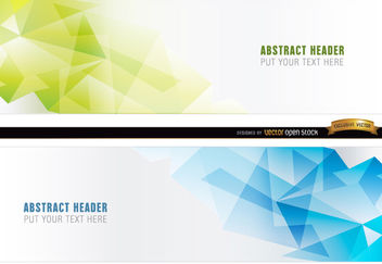 Abstract blue green polygonal headers - бесплатный vector #170819