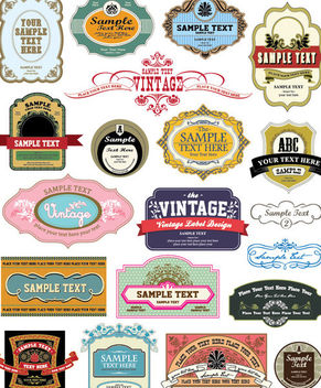 Numerous Collections of Vintage Labels - vector gratuit #170839