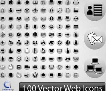 100s of Silhouette Web Icons - Kostenloses vector #170849