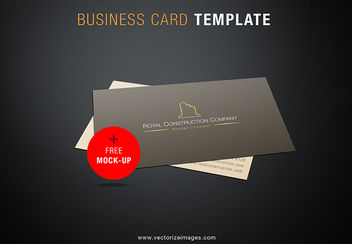 Construction Company Business Card Mockup - vector gratuit #170889