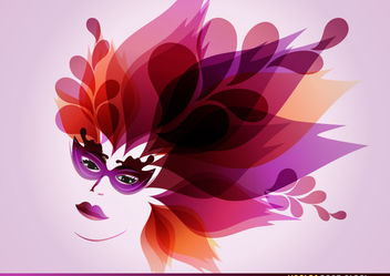 Female Carnival Mask - бесплатный vector #170909
