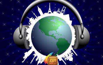 Musical world - Free vector #171039