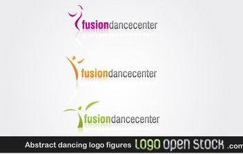 Abstract dancing logo figures - Free vector #171159