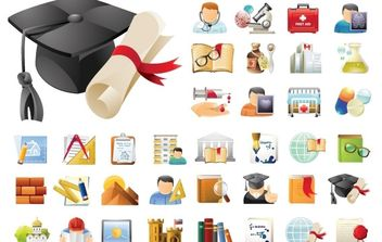 Education & Science 45 Icons Sets - vector #171169 gratis