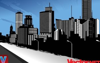 Vector City Skyline Art - vector gratuit #171179