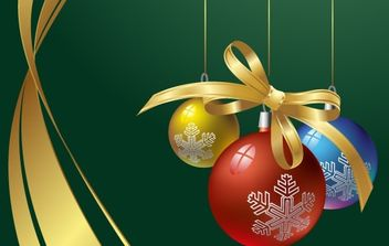 Decorative X-mas Background - vector gratuit #171199