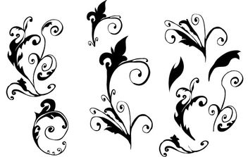 Curly Vector hand made - vector gratuit #171299