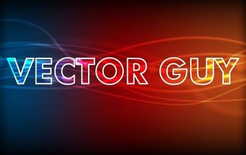 Glowing abstract text effect - vector #171359 gratis