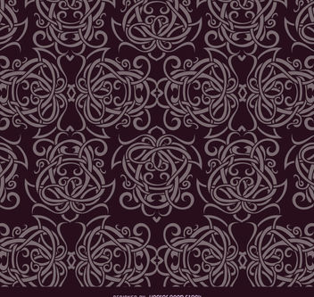 Celtic ornaments purple pattern - vector #171439 gratis