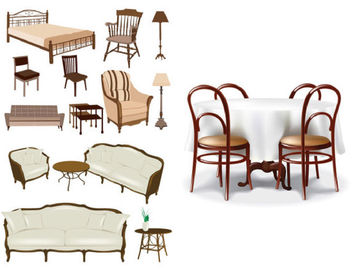 Classic & Decorative Furniture Pack - vector #171499 gratis