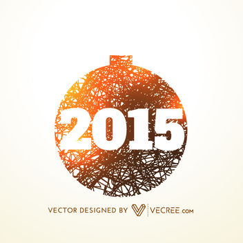 2015 inside Abstract Linen Texture Xmas Ball - Free vector #171529