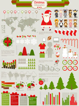 Funky Christmas Infographic Set - Kostenloses vector #171579
